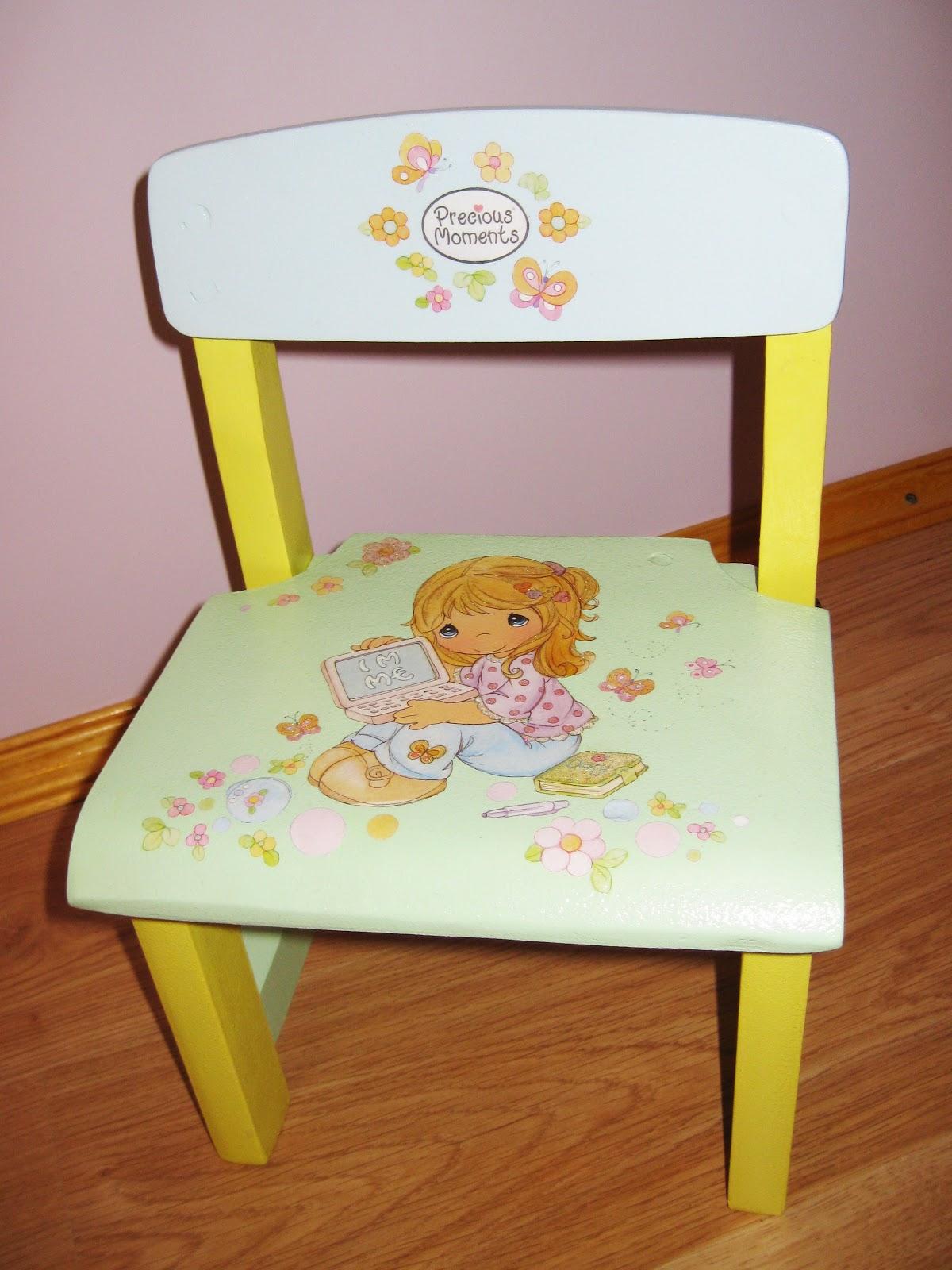 Декупаж детского стула своими руками 3
