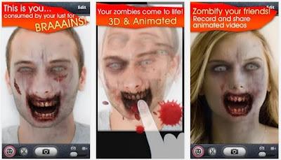 ZombieBooth - Aplikasi mengubah Wajah menjadi Zombie Menyeramkan