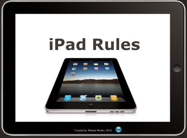 http://www.teacherspayteachers.com/Product/iPad-Rules-Individual-Poster-Set-for-Elementary-1222433