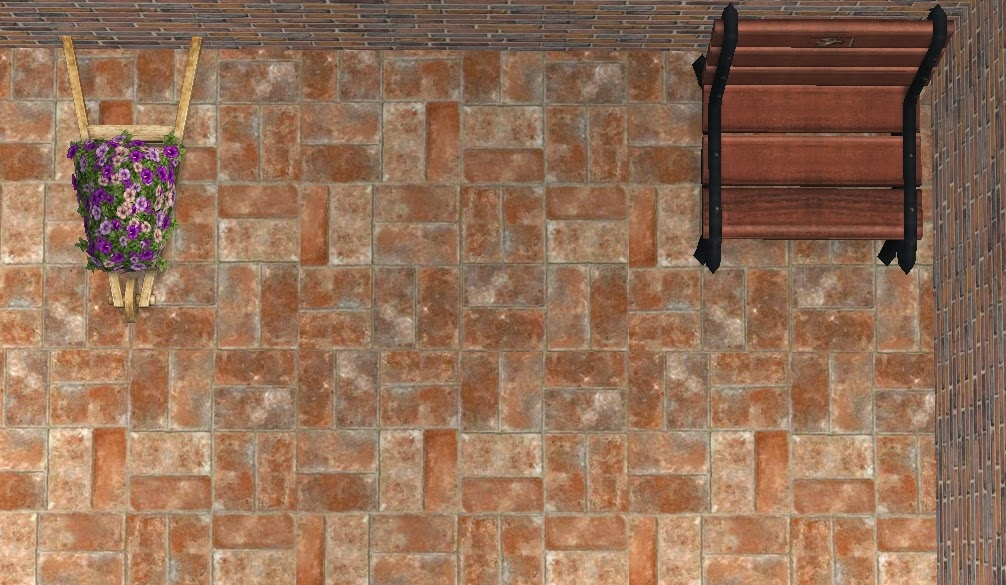 Theninthwavesims The Sims 2 Rustic Brick Flooring