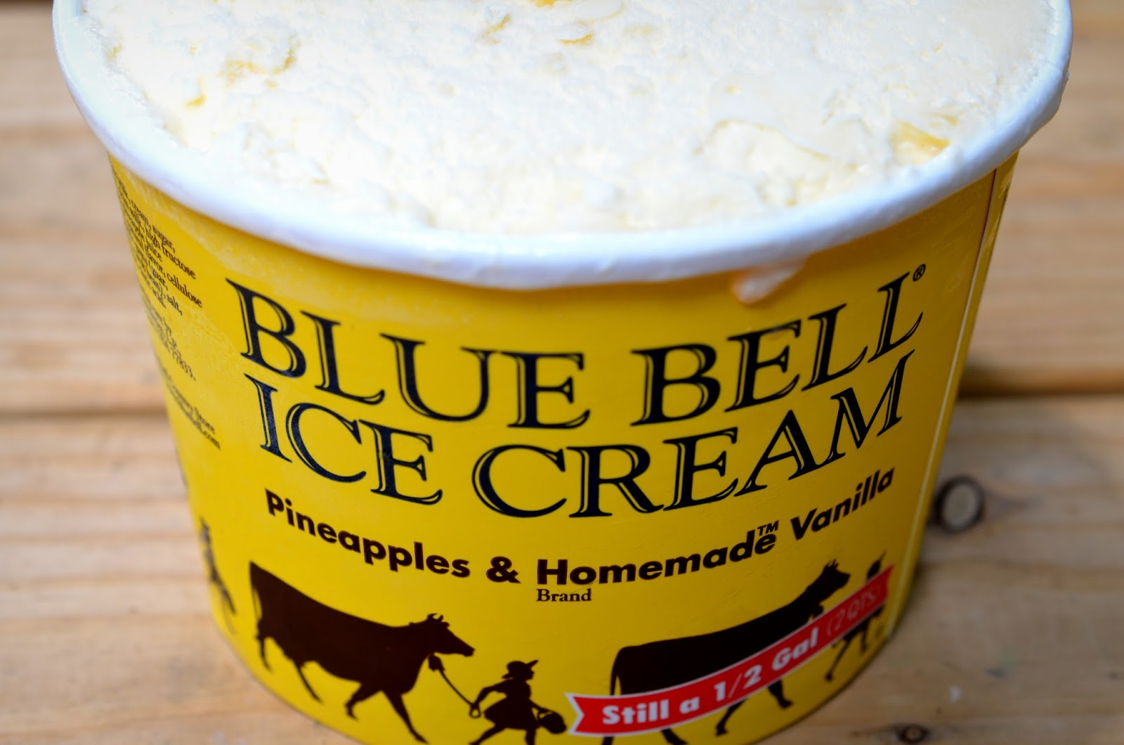 food and ice cream recipes REVIEW Blue Bell Pineapples Homemade