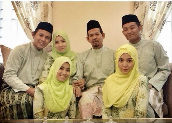 Aidil Fitri Shila Amzah Bersama Keluarga