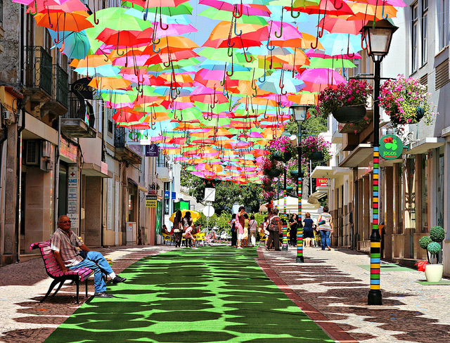 Umbrellas In Portugal