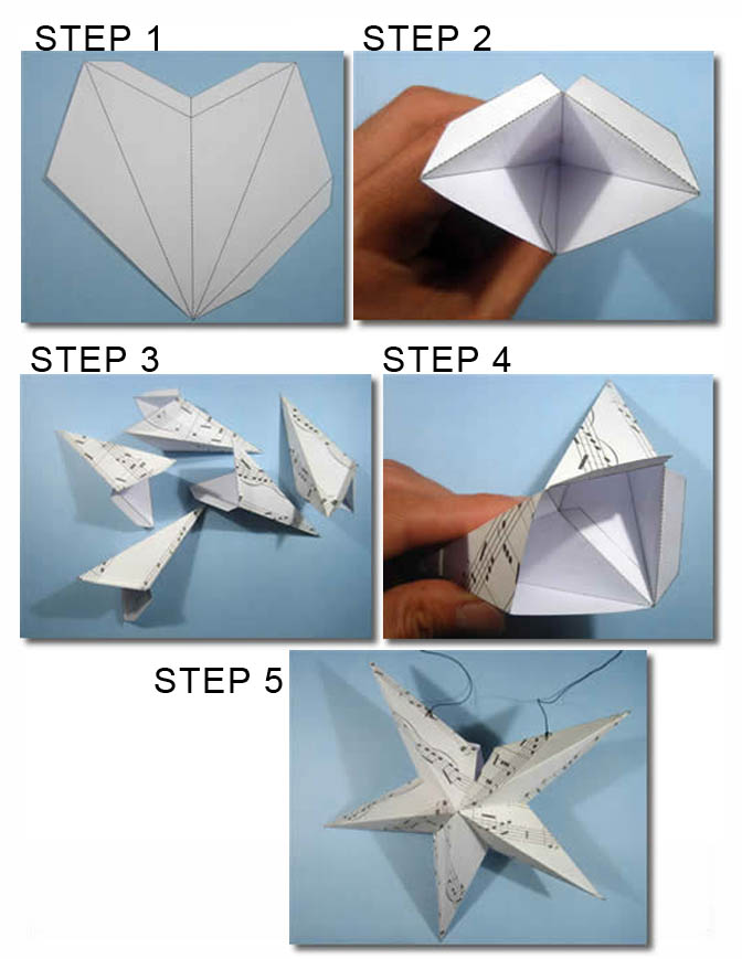 Star paper lantern paper origami guide for How to make paper lamp step by step