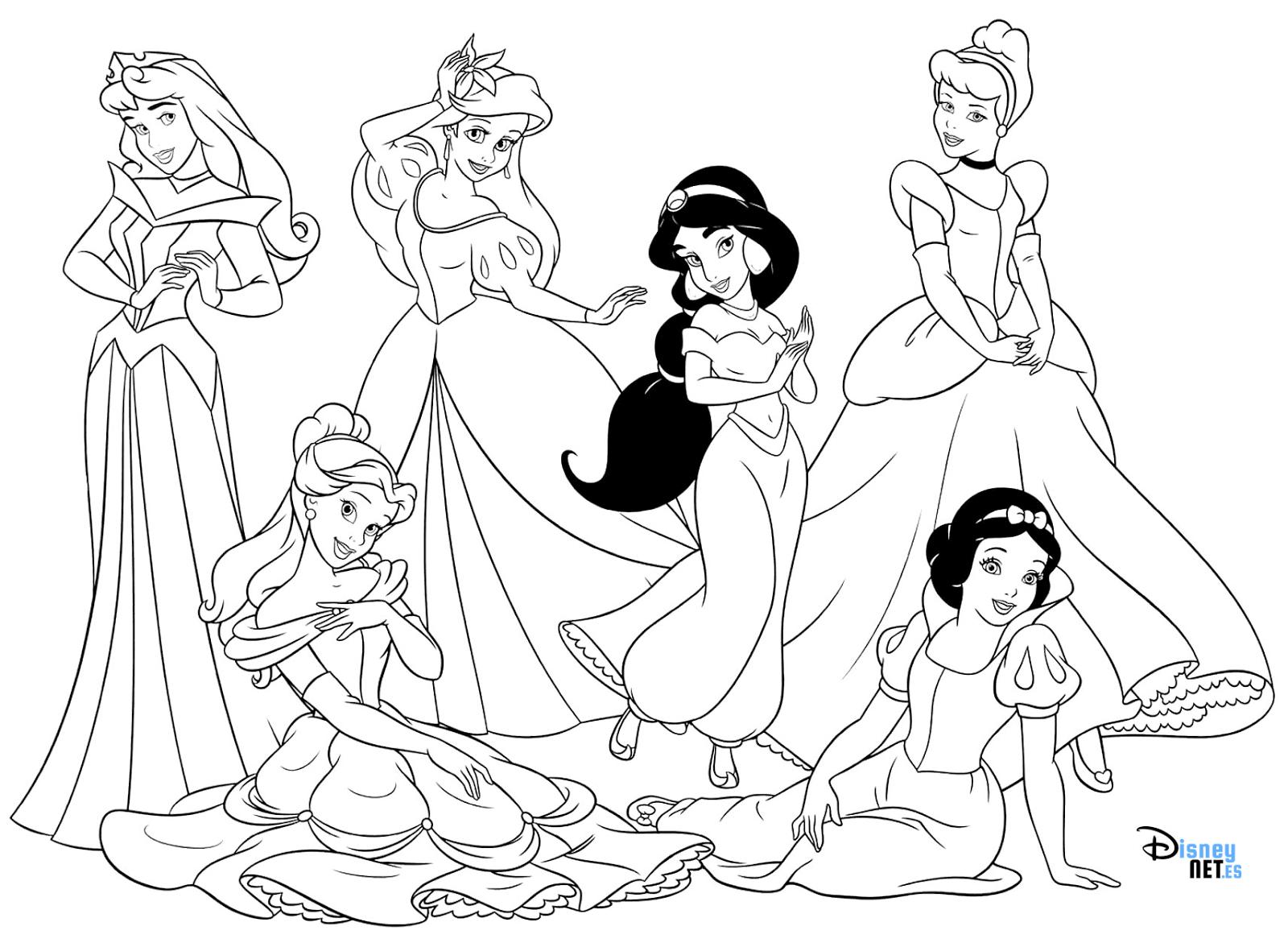 Imagenes Princesas Para Colorear. Elegant Dibujos Princesas Para ...