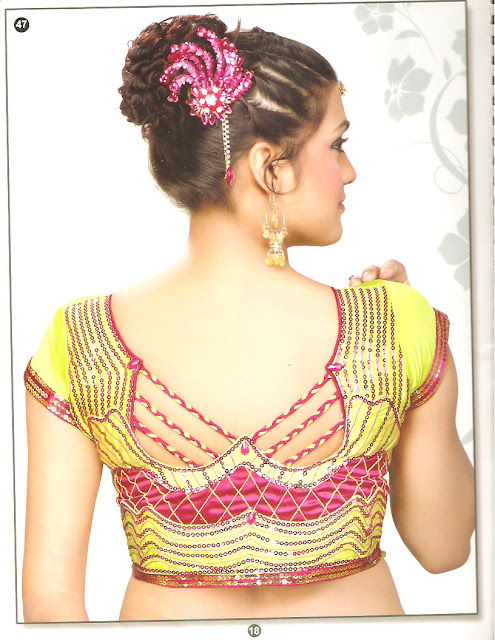 blouse designs neck back