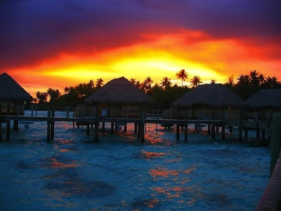 Bora Bora, evening sunset