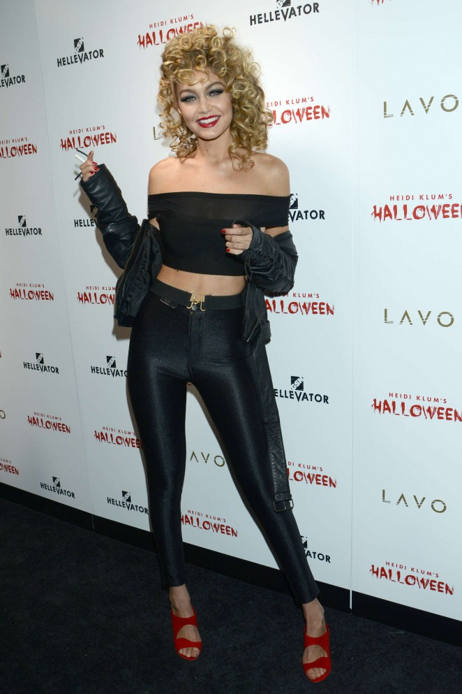 Gigi Hadid turns Sandy from Grease for Halloween Bash