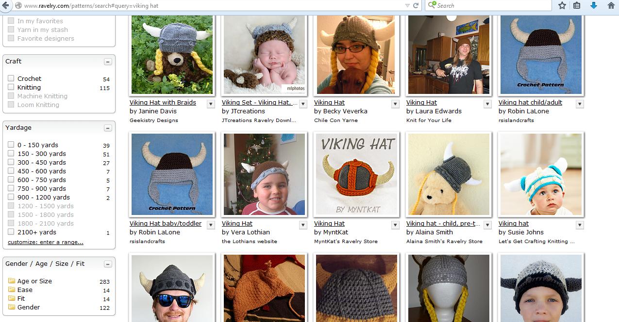 Knit Nottingham: Pattern of The Weeeeeeeeeeeeek - Viking Hat.