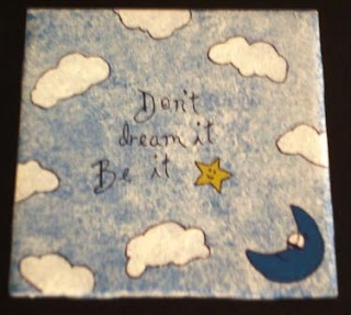 Painted inspirational quote tiles 2