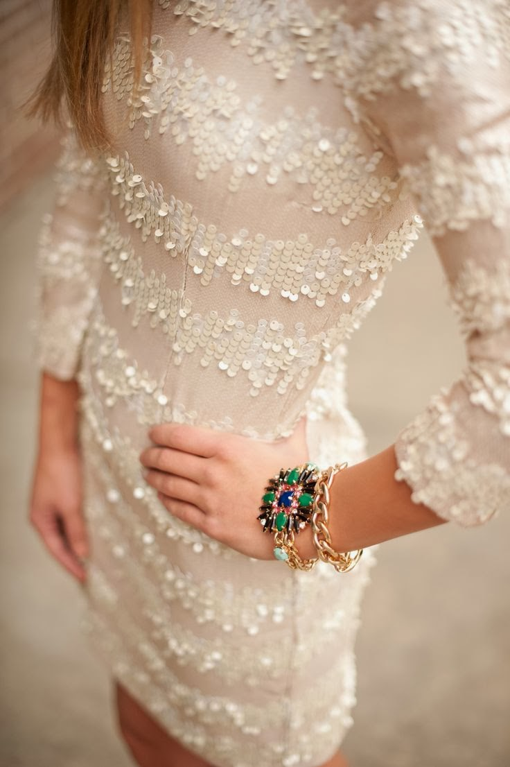 Champagne Sequin Dress - Women inspiration