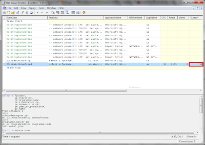 SQL Server Profiler Performance Query Result 1