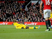 Liverpool's Mario Balotelli misses a chance to score