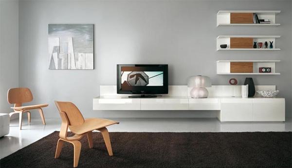 طاولة تلفزيون مودرن بيضاء