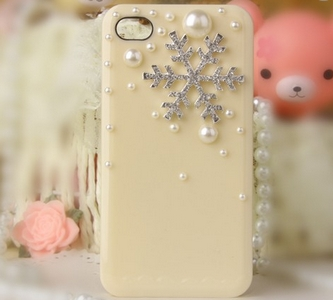 cool iphone 5 case Crystal christmas snowflake
