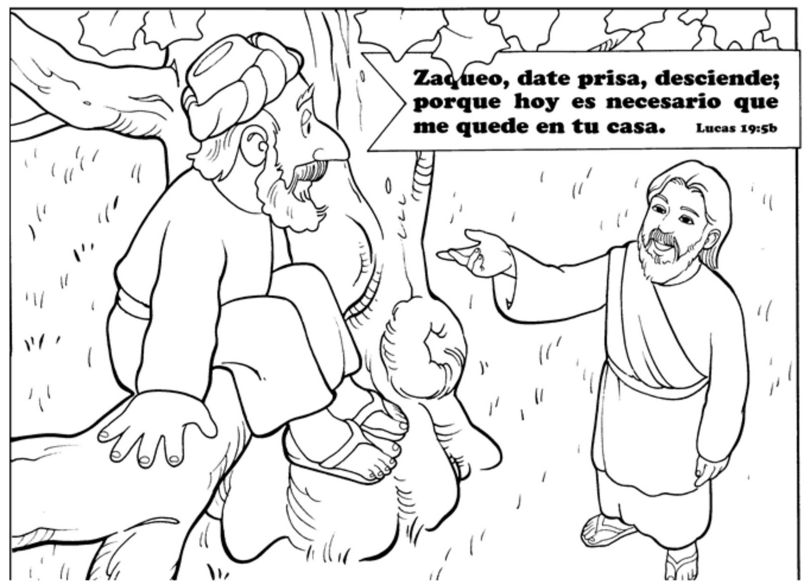 zaqueo coloring pages - photo #2