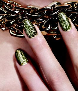 Dior: The Golden Jungle Crocodile Leather Effect Nail Duo