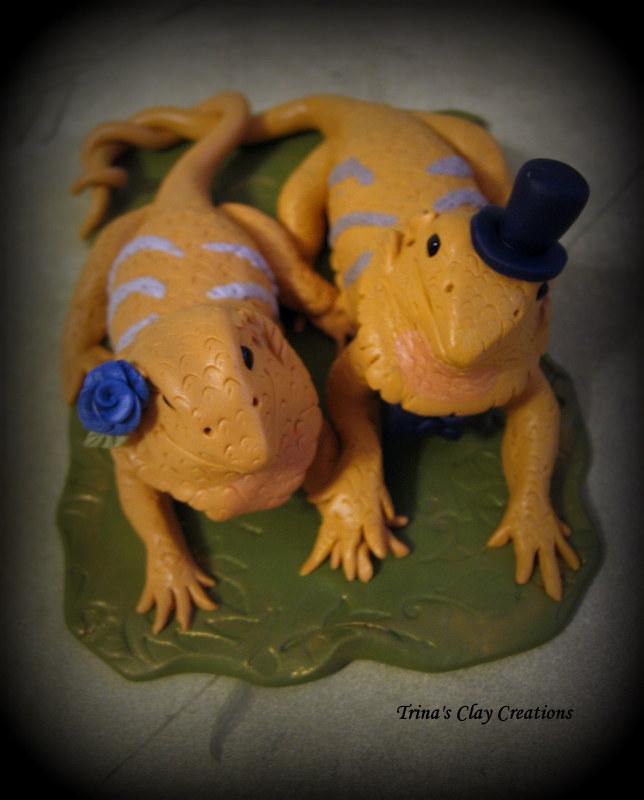 Bearded Dragon Wedding Cake Topper