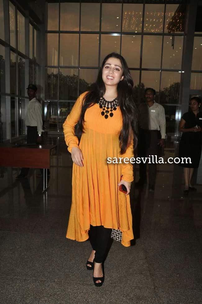 Charmi Kaur in Anarkali Dress