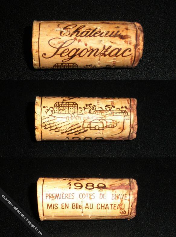 Wine cork: Chateau Legonzac, Premieres Cotes de Blaye 1980