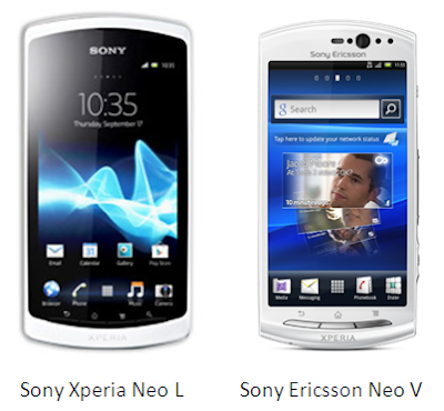 out some the differences between Sony Xperia neo L and Sony Xperia
