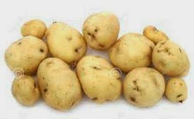 Young potatoes for acne