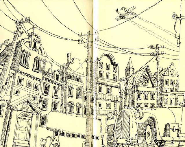 05-a_Symposium-Mattias-Adolfsson-Surreal-Architectural-Moleskine-Drawings-www-designstack-co