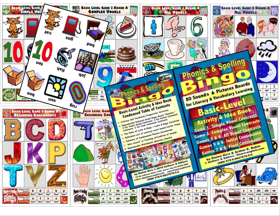 ESL Basic Level Bingo Game