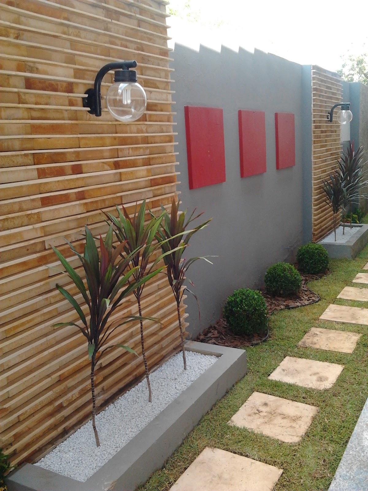 Real paisagismo jardim resid ncial sr tarc zio Jardines exteriores pequenos para casas