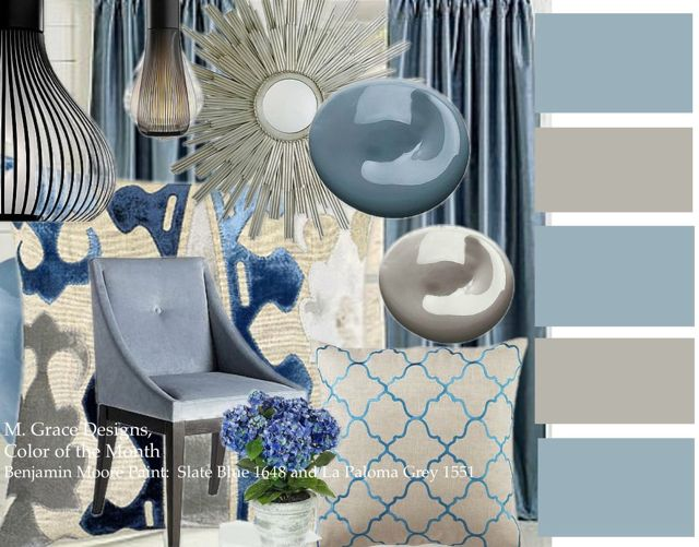 Color of the month for Benjamin moore slate grey