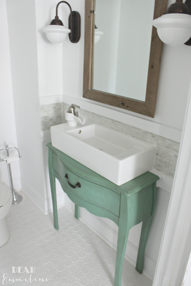 Home decor affordable diy ideas the 36th avenue for Very small sinks for small bathroom