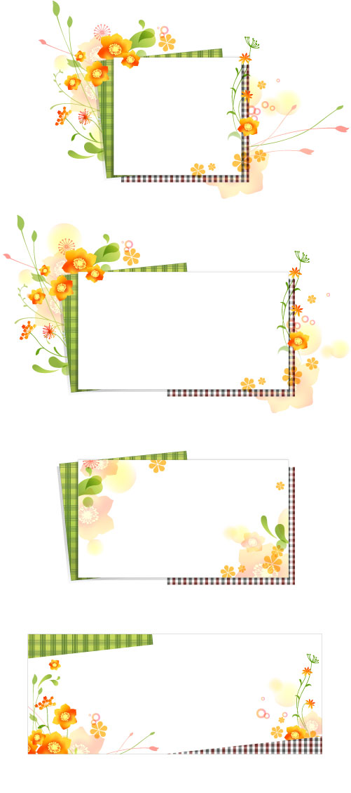 Download file vector flower romantic frame, file type adobe ilustrator