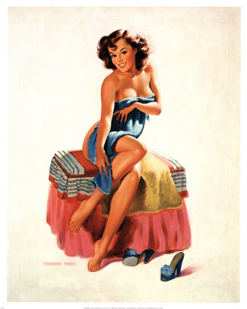 Girl on Wish I Were Vintage  Pin Up Girls