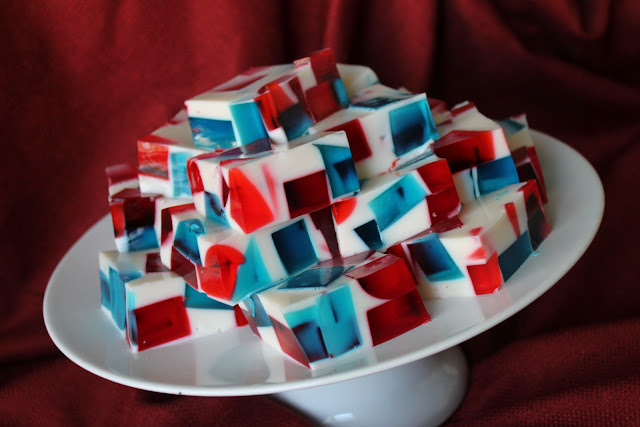 Patriotic Stained Glass Jello via The Taste Tester