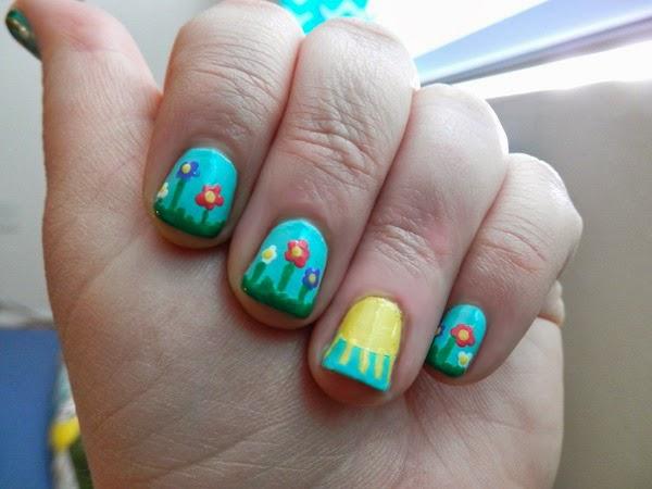 Beauty Spring Flowers Nail Art Tutorial Neon Rattail