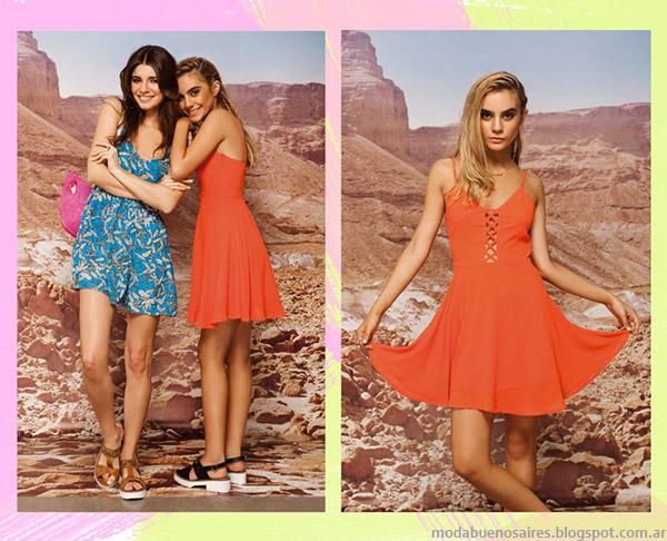 Primavera verano 2015 Peuque vestidos. Moda urbana de estilo juvenil verano 2015.
