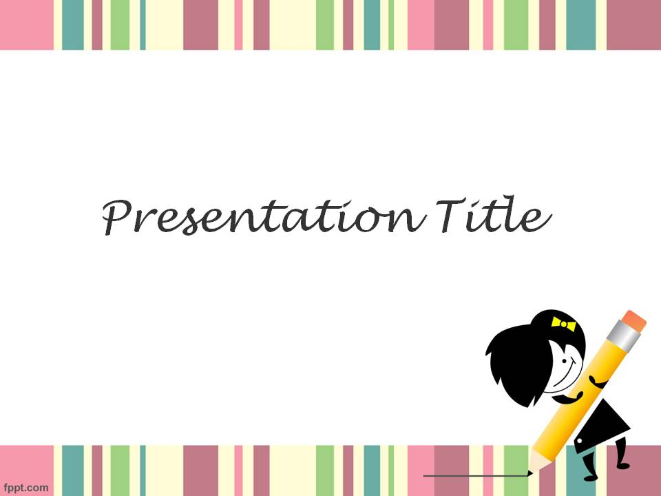 Cute powerpoint template 7