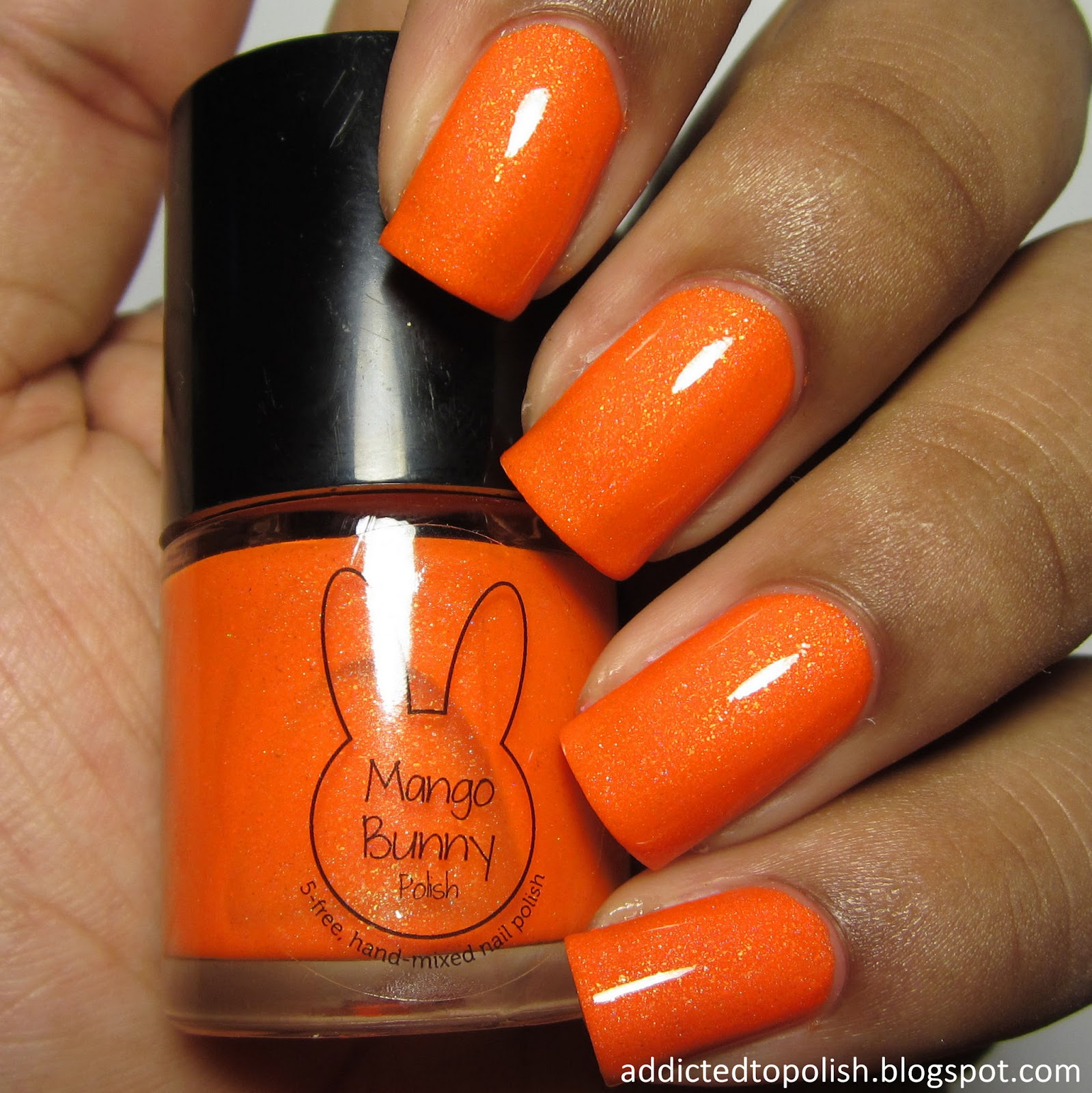mango bunny polish come to papaya sunkissed neons