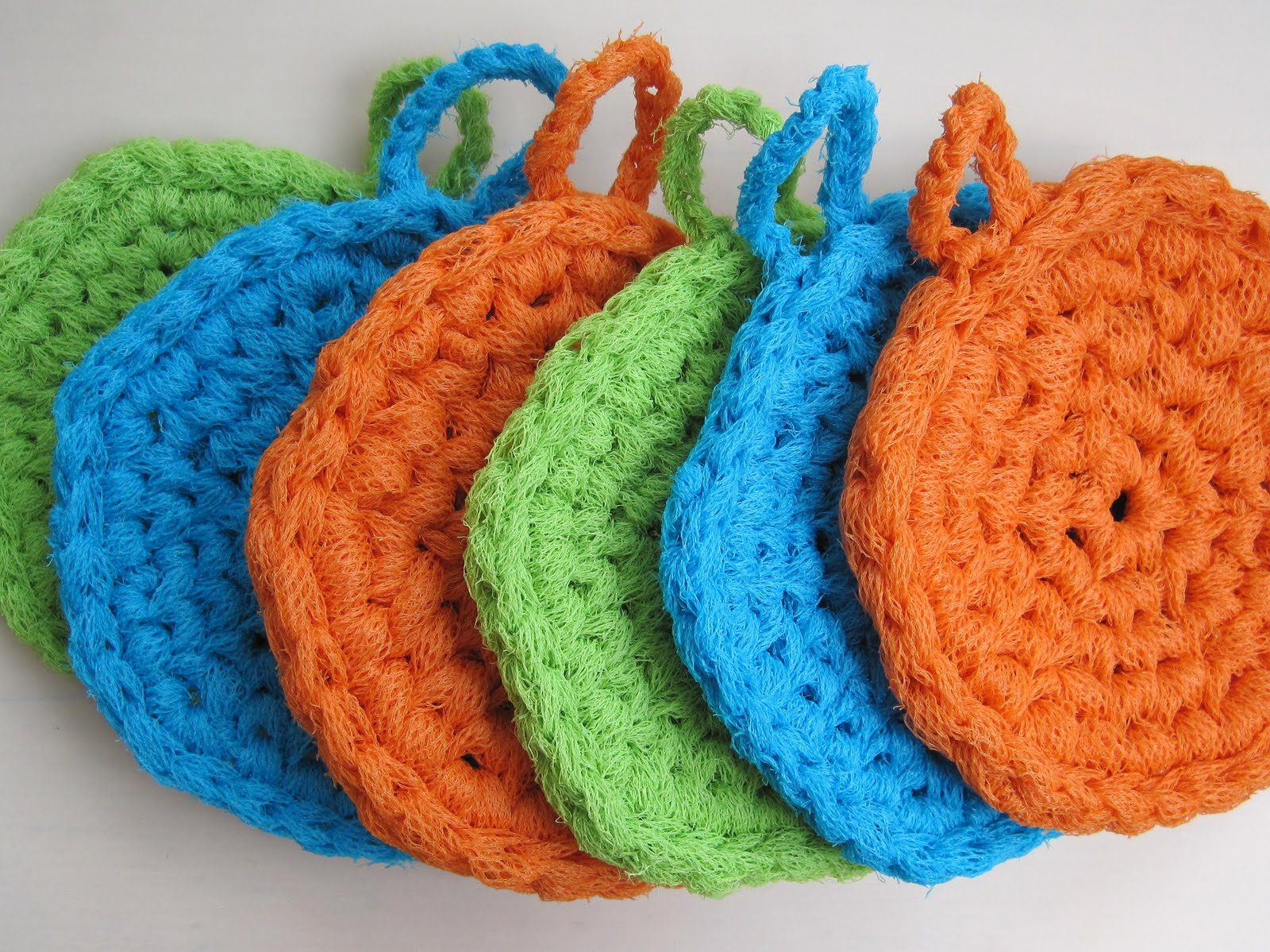 Free Crochet Patterns For Nylon Net Scrubbies : Mr. Micawbers Recipe for Happiness: Micawber Scrubbies ...