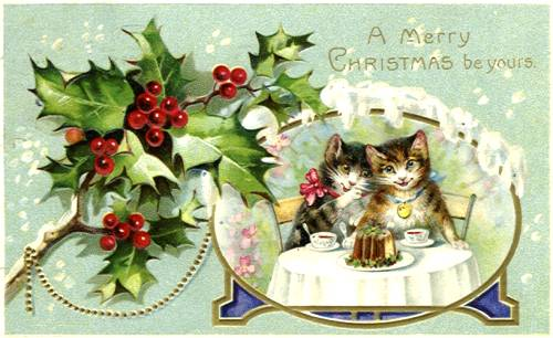 American Christmas: early Christmas cards featuring cats