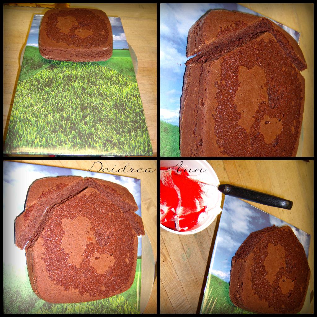 Gumdrop cake with graham crackers