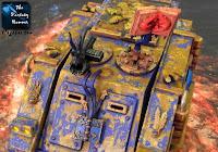 Kosmiczni Marines Chaosu Rhino Tzeentcha WiP 3