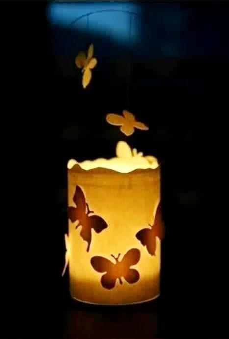Kerajinan Tangan Dari Barang Bekas, Hiasan Lilin Kupu-kupu