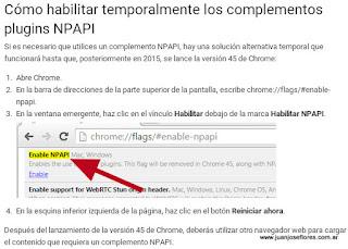 Google Chrome deja de dar soporte a complementos NPAPI