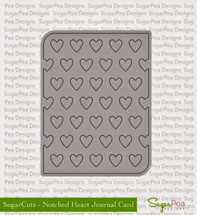 Sugar Cuts Notched Heart Journal Card