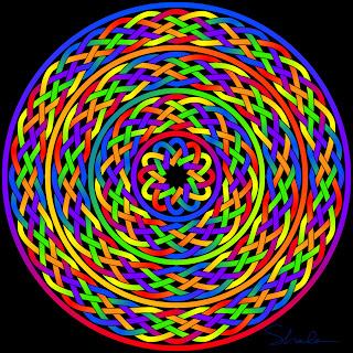 Rainbow braids