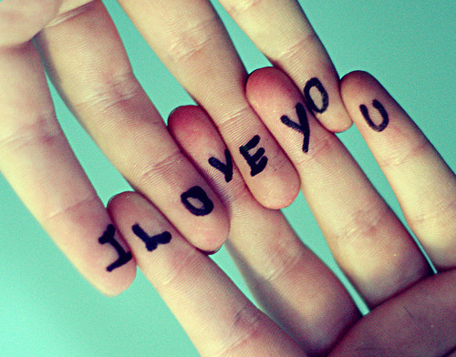 cute hands i love you love typography