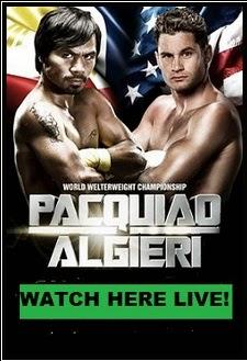 Pacquiao vs Algieri Live Stream