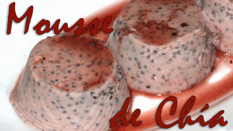 mousse de chia sabor frambuesa