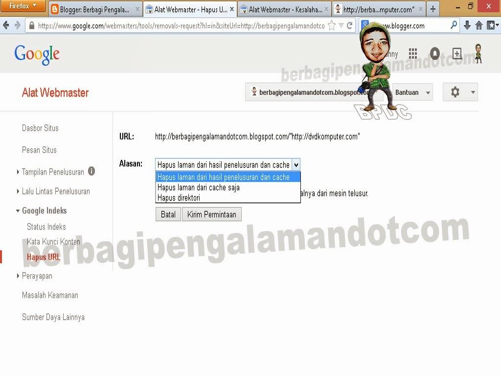 Cara Menghapus URL di Google_Gambar Submit Permintaan Hapus URL